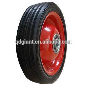 5 inch solid rubber wheels for trolley