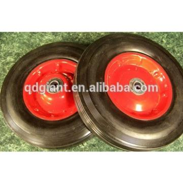 16in solid rubber tire with steel rim and ball bearing