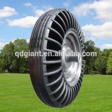 Heavy duty solid rubber wheel/tire 3.50-8