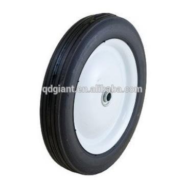 Semi-pneumatic rubber wheel 10inchx1.75inch with metal rim