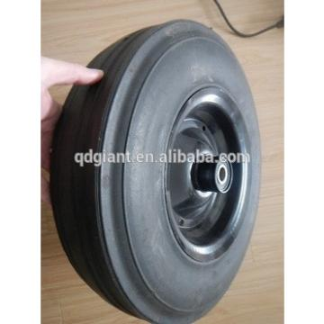 400mm solid rubber wheel for blasting pot