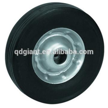 """10-Inch x 2.5"""" Solid Rubber Tire for Carts Hand Trucks Dolly 5/8""""Axle"""
