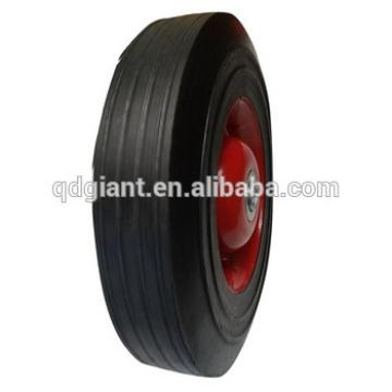 "10"" x 2.5"" Heavy Duty New Industrial Solid Rubber and metalc Rim Wheel"