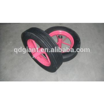 Heavy duty standard 16inch solid rubber spoke wheels with bearing
