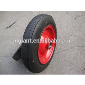 "14"" wheelbarrow solid rubber wheel"