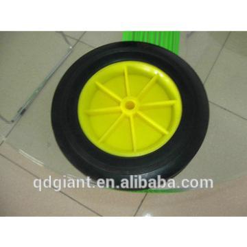 "Rubber Molded 6"" x 1.5"" solid wheel W/ 1/2"" Bore"