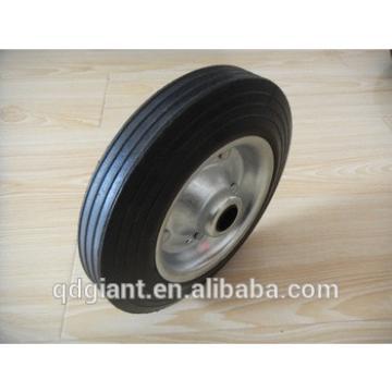"8""x2"" hand cart wheel with aluminum rim"