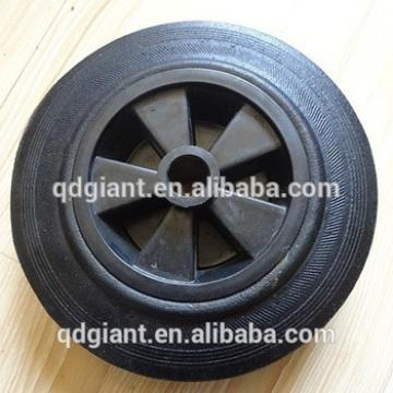 8 inch solid powder rubber wheel for paltform hand truck