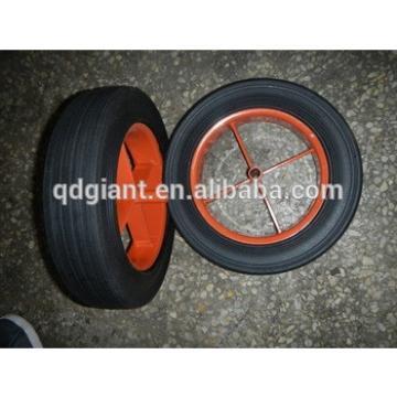 "solid rubber wheel 13""x3"" for wheelbarrow/Rubber Powder wheel"