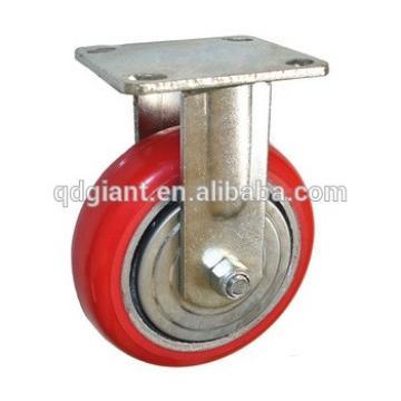 """5"""" heavy-duty polyurethane fixed caster wheels"""