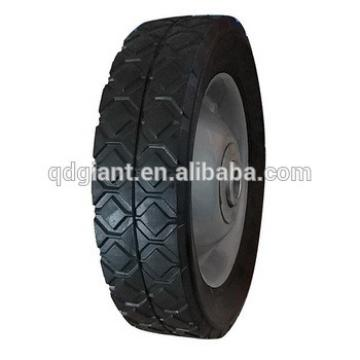 6 inch solid wheel with a steel rim