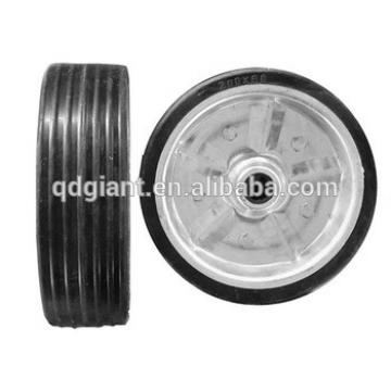 200mm rubber wheel with steel rim