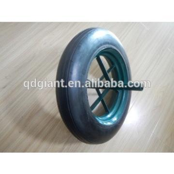 solid rubber spoke wheel 14x4