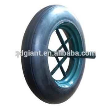 "wheelbarrow spare part /WB6400 wheel/wheelbarrow tyre 14""x4"""