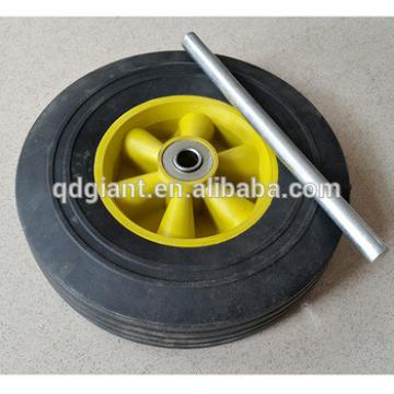 10inch solid rubber wheel with alex