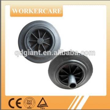 8inch solid rubber wheels for trash bin