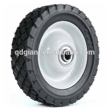 6X1.50 wagon steel rim rubber wheel