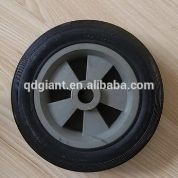 5inch small solid rubber caster and wheels with plastic rim