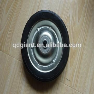 7 inch solid rubber wheel with bearing