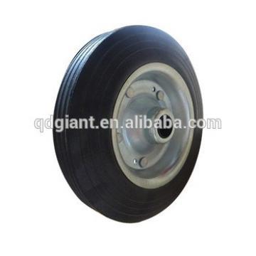 Galvanized rim rubber material 200mm solid wheel