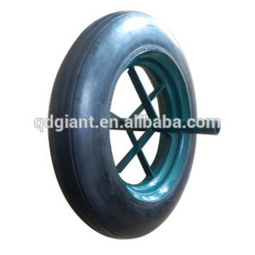 14 inches solid rubber spoke wheel
