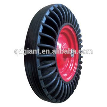 Ghana market wheelbarrow 15 inch solid rubber tires