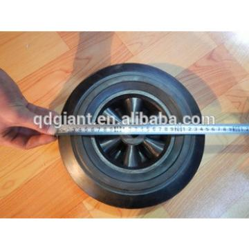 """10""""x2.5"""" straight line solid rubber wheel"""