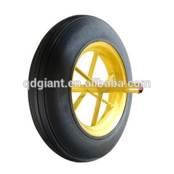 12 to 16 inch solid rubber wheels for wheelbarrow