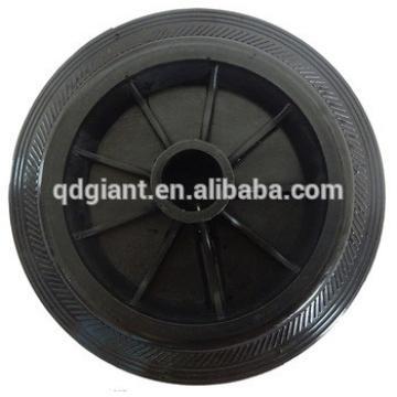 8inch PU tyre&plastic rim trash bin wheels