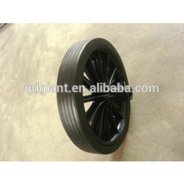 Rubber solid 12 inch wheel for dustbin