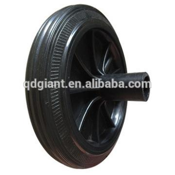 8 inch waste bin wheels with shaft