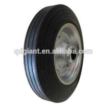 8X2 inch solid rubber wheels