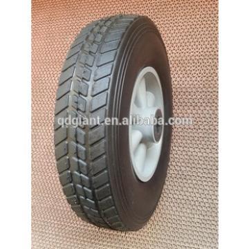 10 inch plastic rim semi-pneumatic solid rubber wheel for toys, hand trucks, tool carts