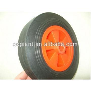 China popular portable 8 inch solid rubber wheel with plastic rim