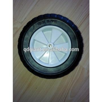 """8""""x1.75"""" solid rubber wheels for lawn mover with plastic rims"""