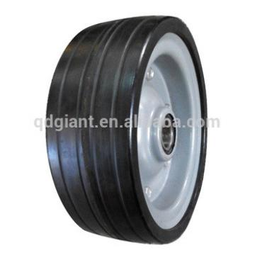China popular 8inch solid rubber wheel with steel rim