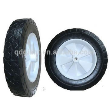 Popular 8inch solid rubber wheel with plastic rim