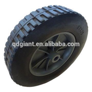 "8""x1.75"" solid rubber hand trolleys wheels"