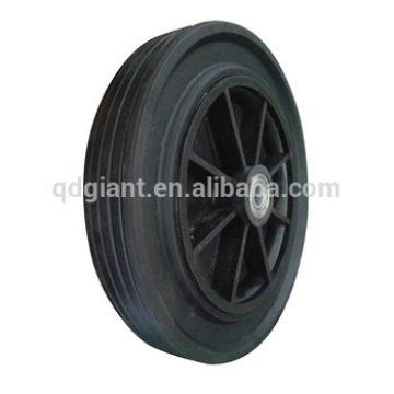 8 inch cheap solid rubber wheel with plastic rim