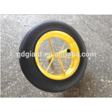 """Popular 14""""x4"""" solid rubber wheel with a long axle"""