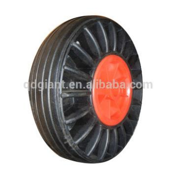 """Inexpensive solid rubber wheel 10""""x3"""" with plastic rim"""