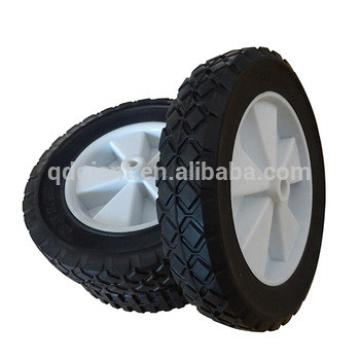 """8""""x1.75 """" solid rubber wheel for folding wagon with plastic rim"""