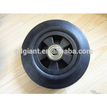 8inch solid rubber wheels for hand trolleys and wheel barrow