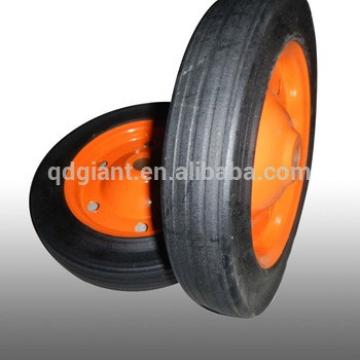 """China durable 13""""x3"""" steel rim solid rubber wheel"""