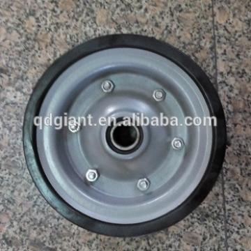 durable solid rubber wheels for beach cart 8 inch