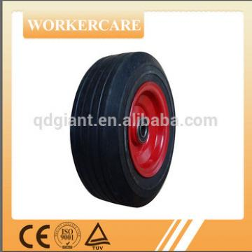 8 inch durable solid rubber wheel with steel rim