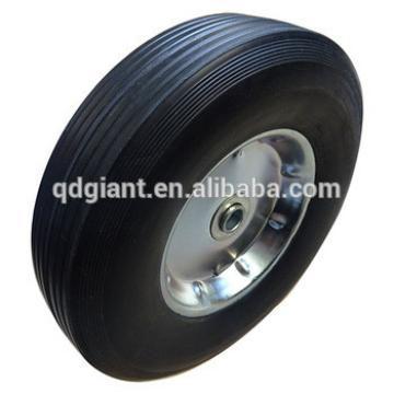 10inch solid beach trolley wheel rubber kids wagon cart wheel