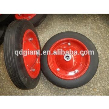 steel rims wheels solid rubber beach cart wheels
