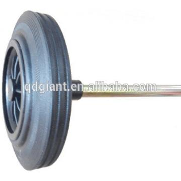 6 and 8 inches garbage/dust/waste bin solid wheel with axle