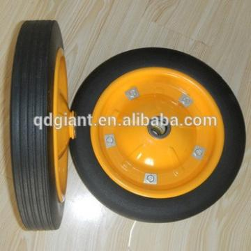 high quality solid rubber wheels for wagon cart / beach trolley cart